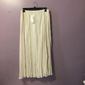 Nurture ivory cotton maxi skirt